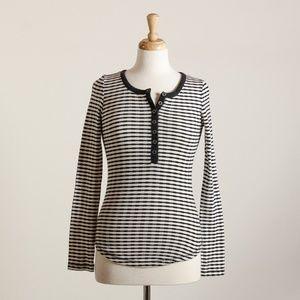 [Lucky Brand] b+w striped knit